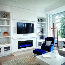 50 inch electric fireplace northwest wall mounted