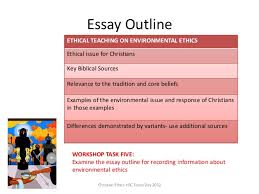 ceo sydney environmental ethics  essay outline christian ethics hsc focus day 2012 ethical teaching on environmental ethics ethical issue for
