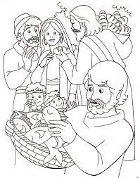 Jesus Christ Coloring Pages Jesus Heals