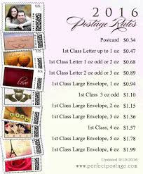 Usps Postage Rates Chart 2016 New Reduced Usps 2016 Postage Prices Perfect Postage