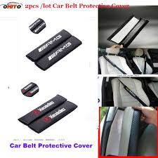 pu carbon fiber car seat belts padding cover auto car belt cover seat belts pad seat covers emblem w211 w203 w204 w124 w201 amg car seat carrier car seat
