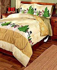 Amazon.com: 3-Pc. Reversible Full/Queen Christmas Comforter Set ... & 3-Pc. King Christmas Comforter Set Adamdwight.com