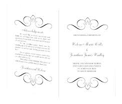 Wedding Ceremony Brochure Wedding Ceremony Booklet Template