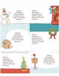 Holiday Address Label Templates Templates For The Holidays The Online Mom