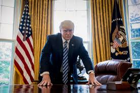 president in oval office. President Donald Trump Poses For A Portrait In The Oval Office Washington, Friday, April 21, 2017. With His Tweets And Bravado, Is Putting