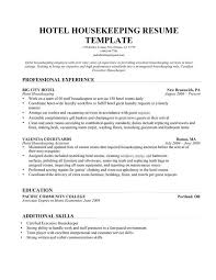 housekeeping resume templates housekeeping resume sample tgam cover letter