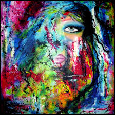 abstract acrylic art painting