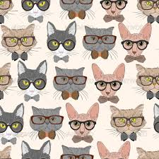 cute cat pattern wallpaper. Interesting Cat Hipster Cat Pattern Backgrounds Digital ProductDigital Product On Cute Wallpaper