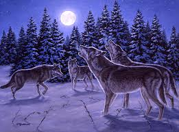 wolf howling painting. Plain Painting Wolf Painting  The Howling By Richard De Wolfe In