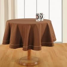 cinnamon brown plain round table linen 763