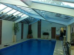 ... Beautiful White Blue Wppd Glass Moder Design Pool House Inside  Rectangular Flooring Marble Wall Brick Natural ...