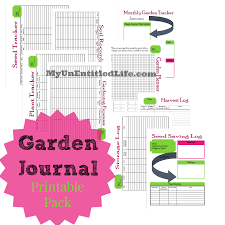 Garden Tracker Garden Journal Printable Pack Free Month By Month Planner
