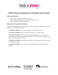 Music Personal Statement Personal Statements And Criteria