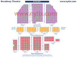 Hamilton Broadway Theater Seating Chart Broadway Theatre On Broadway In Nyc