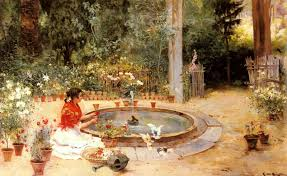 Панисо Рикардо Бругада y The <b>Flower Garden</b> (<b>картина</b> ...