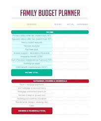 Family Budget Template Free Family Schedule Organizer Vacation Budget Template Free