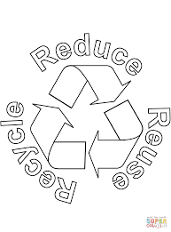 Small Picture Reduce Reuse Recycle coloring page Free Printable Coloring Pages
