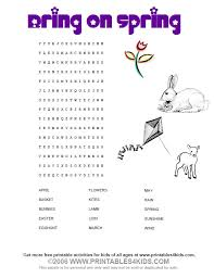 Small Picture Bring on Spring Wordsearch Printables for Kids free word