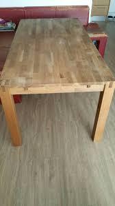 Massiver Esszimmertisch Teak Holz 90x180 Cm