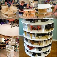 lazy susan shoe rack carousel organizer shoe carousel