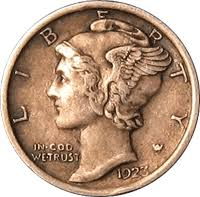 1923 Mercury Dime Value Cointrackers