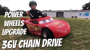modified power wheels drifting 36v lightning mcqueen electric ride on car for kids