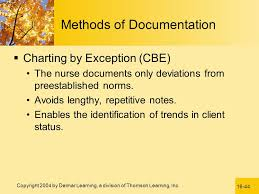 Nursing Documentation Charting By Exception Documentation And Reporting Ppt Video Online Download