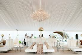 White tent wedding bar design