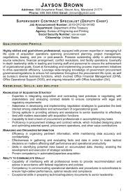 Sample Contract Specialist Resume Contract Specialist Resume Example Examples Of Resumes Sample 5