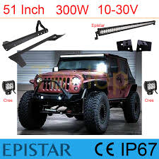 wrangler wiring harness promotion shop for promotional wrangler 51 inch 300w epistar combo led light bar 2pcs 3 6 18w cree led light wire harness a pillar brackeet for wrangler 12v 24v