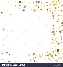 Stars Invitation Template Gold Stars On A White Background Vector Iilustration