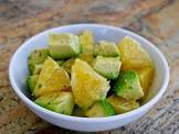 avocado and orange salad with olive oil lemon dressing
