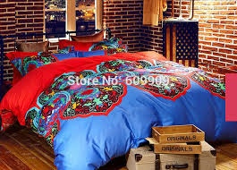 amazing 100 sanded cotton fabric bohemiaboho duvet cover setwinter warm with regard to boho duvet covers queen bedroom
