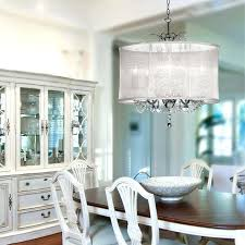 white drum chandelier drum shade crystal chandelier dining room traditional with chrome crystal lighting contemporary white