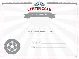 soccer awards templates printable soccer certificate of participation award