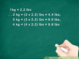 Metric To Lbs Conversion Chart How To Convert Metric Weight To Pounds 7 Steps With Pictures