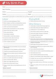 Birth Plan Guidelines 003 Example Birth Plan Tinypetition