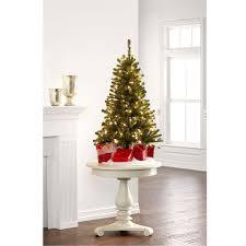 4 Ft. Pre-Lit Hillside Pine Artificial Christmas Tree, Clear ...