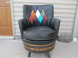 amazing 1950s whiskey barrel chair foley wildlife western collection auction k bid