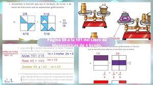 Libros de texto de la sep tareas respuestas contestados explicaciones grados 1 2 3 4 5 6 desafíos. Paginas 98 A La 101 Del Libro De Matematicas De 4 Grado Youtube