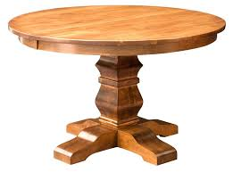 interior solid wood round kitchen table inside pedestal dining rustic idea 6 and tables 60 chairs