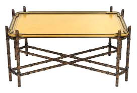 gold bamboo coffee table faux bamboo tray top coffee table gold metal bamboo coffee table
