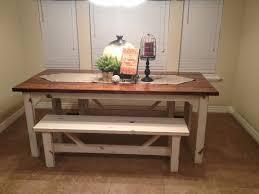 Bench Table For Kitchen Kitchen Table With Benches Round Rustic