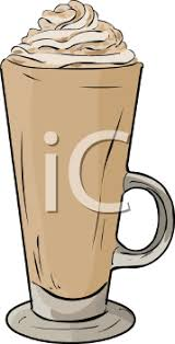 iced coffee clipart. Beautiful Iced Flavored Iced Coffee With Whipped Cream On Top  Royalty Free Clipart  Picture Inside F