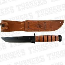 ka bar usmc fighting knife with leather sheath item 1217