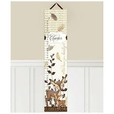 Toad And Lily Growth Chart Sweet Deer Personalized Growth Chart