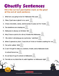 Boo! Practice Punctuation With This Ghostly Printable | Parents ...