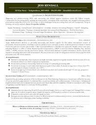 Resume Accounting Clerk Accounting Clerk Resume Sample Accounts