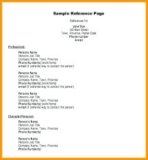 Examples Of Job References Format On A Resume Reference 3