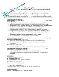 actuarial resume examples